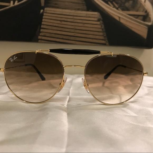 596624ed38598 Ray-Ban RB3540 Gold Tone Sunglasses. M 5ae4a72f1dffda2b5bacc3a0
